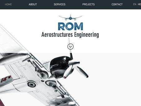 אתר וויקס חדש לחברת רום הנדסת מבנים תעופתיים