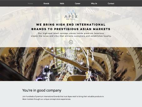 אתר וויקס חדש לחברת Apex Retail