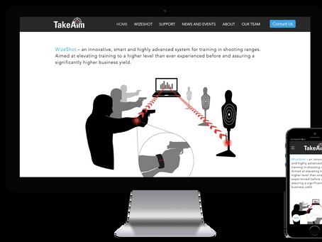 אתר וויקס - WIX - חדש לחברת TakeAim