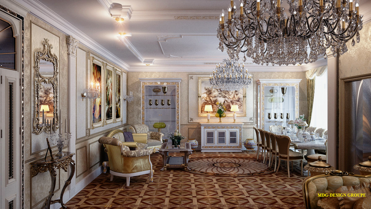 ремонт под ключ дизайн интерьера в стиле барокко