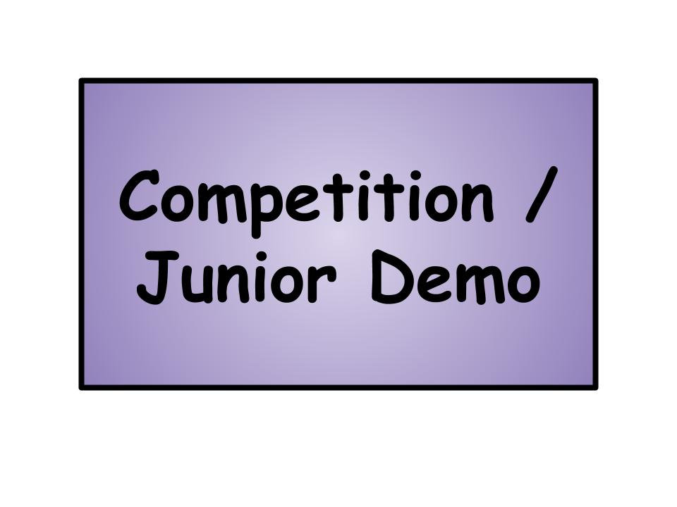Competition / Jr. Demonstration Team