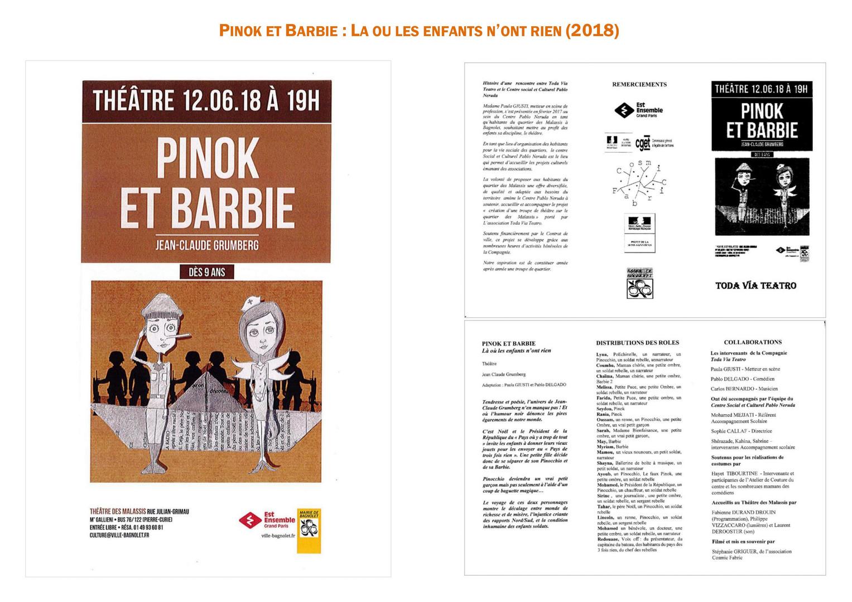 Pinok et Barbie (2018). Visuel et programme.