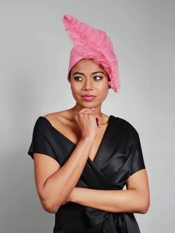 turban pink sinamay