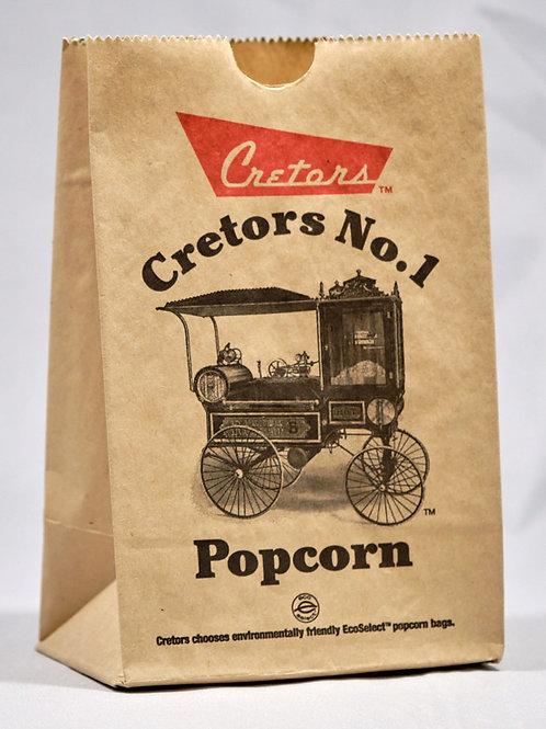 Cretors No.1 Popcorn 32 oz Ecoselect Paper Bags x 25 pcs