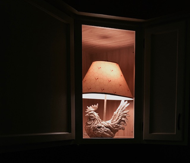 my rooster/chicken lamp