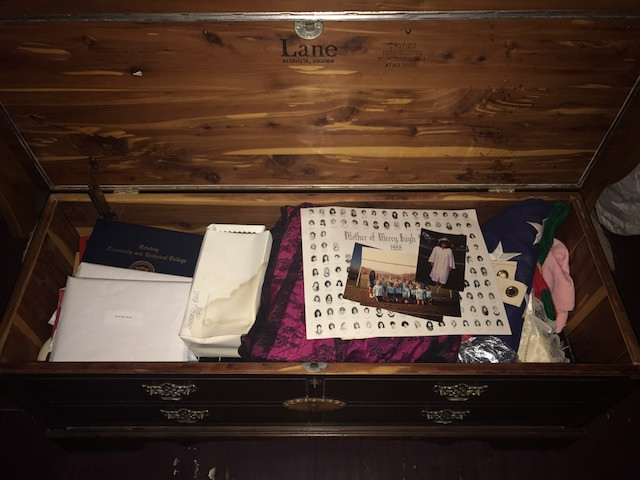 The inside of my hope chest