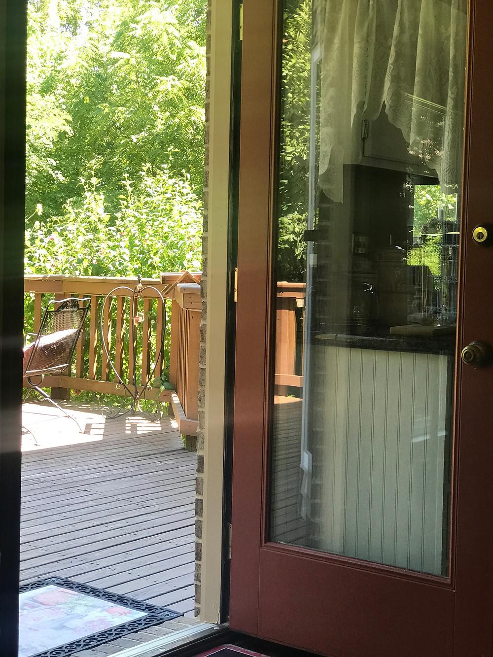 open back door
