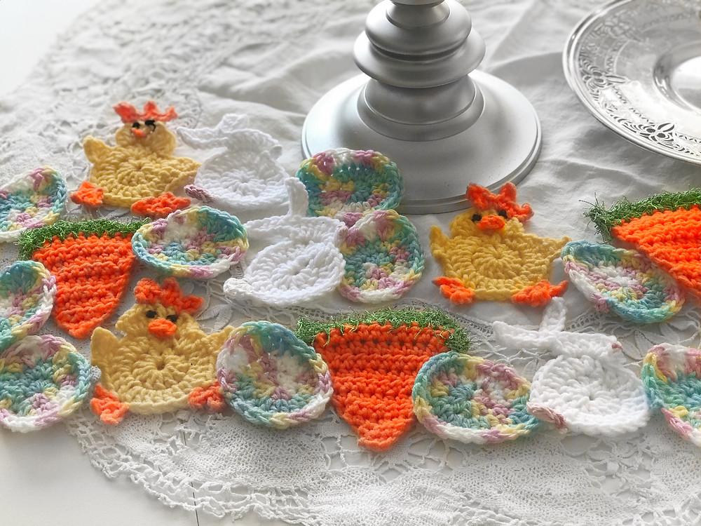 crochet Easter bunting