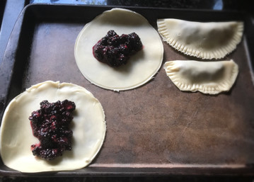 preparing blackberry fried pies