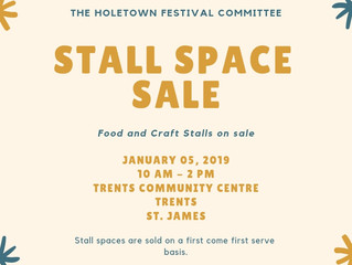 Stall Space Sale 2019!!