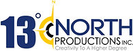 13 Degrees North Productions Logo with s