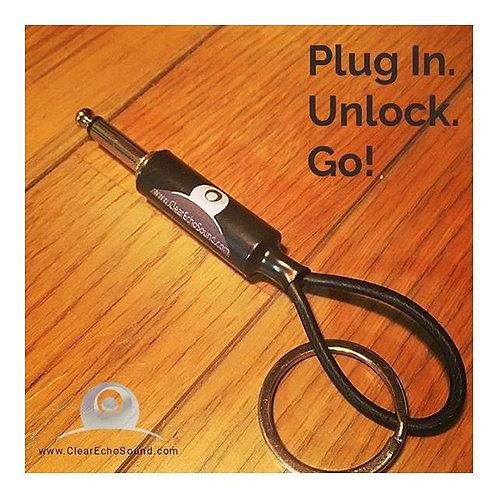 """Clear Echo 1/4"""" Plug Keychain"""