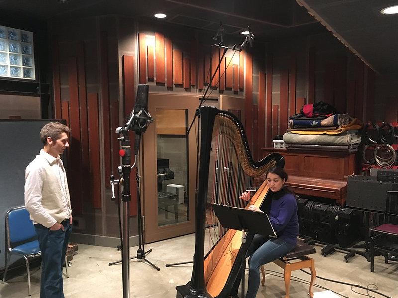 Harp recording session at Studio Dali Tokyo by Clear Echo