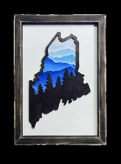 Framed Maine Cutout