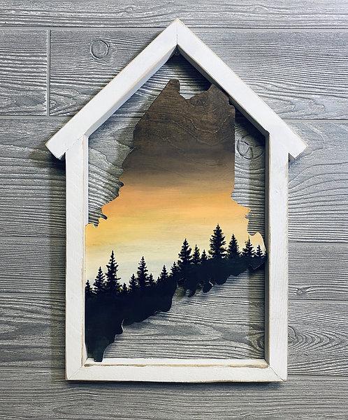 House-Framed Maine Cutout