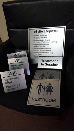 engraved interior signs