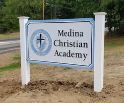 Medina Christian Academy ground sign