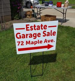 coroplast yard sign