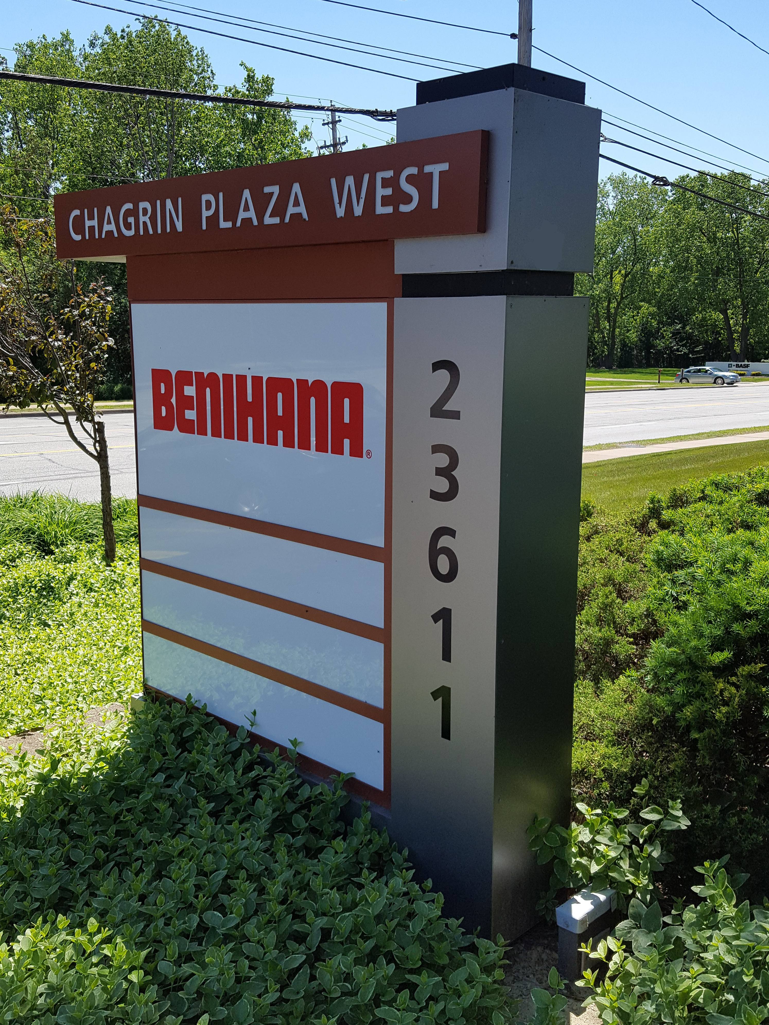 Chagrin Plaza ground sign