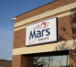 Mars illuminated sign