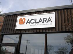 Aclara building sign