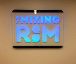 Etched acrylic LED wall sign