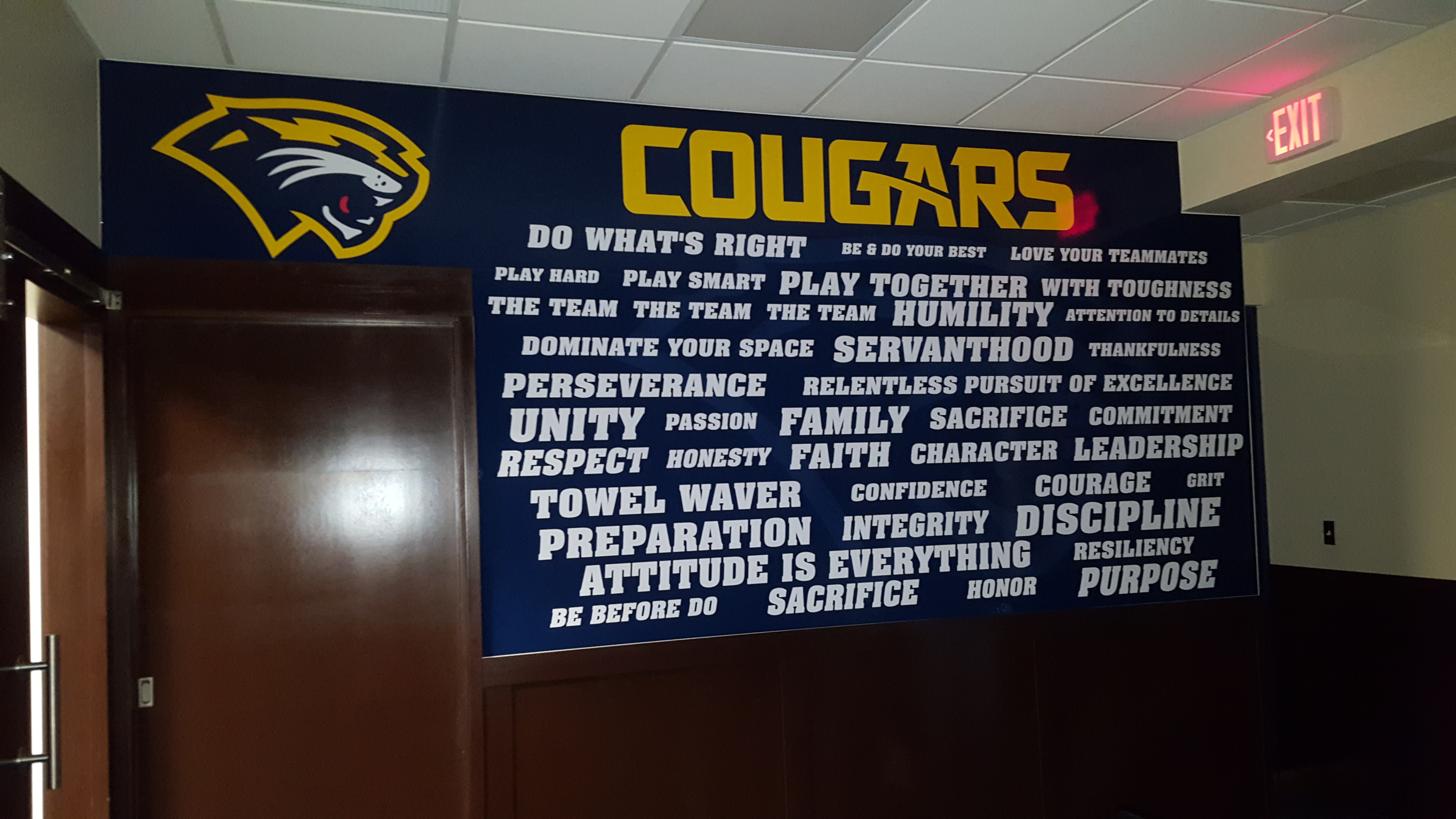 Spring Arbor wall graphics