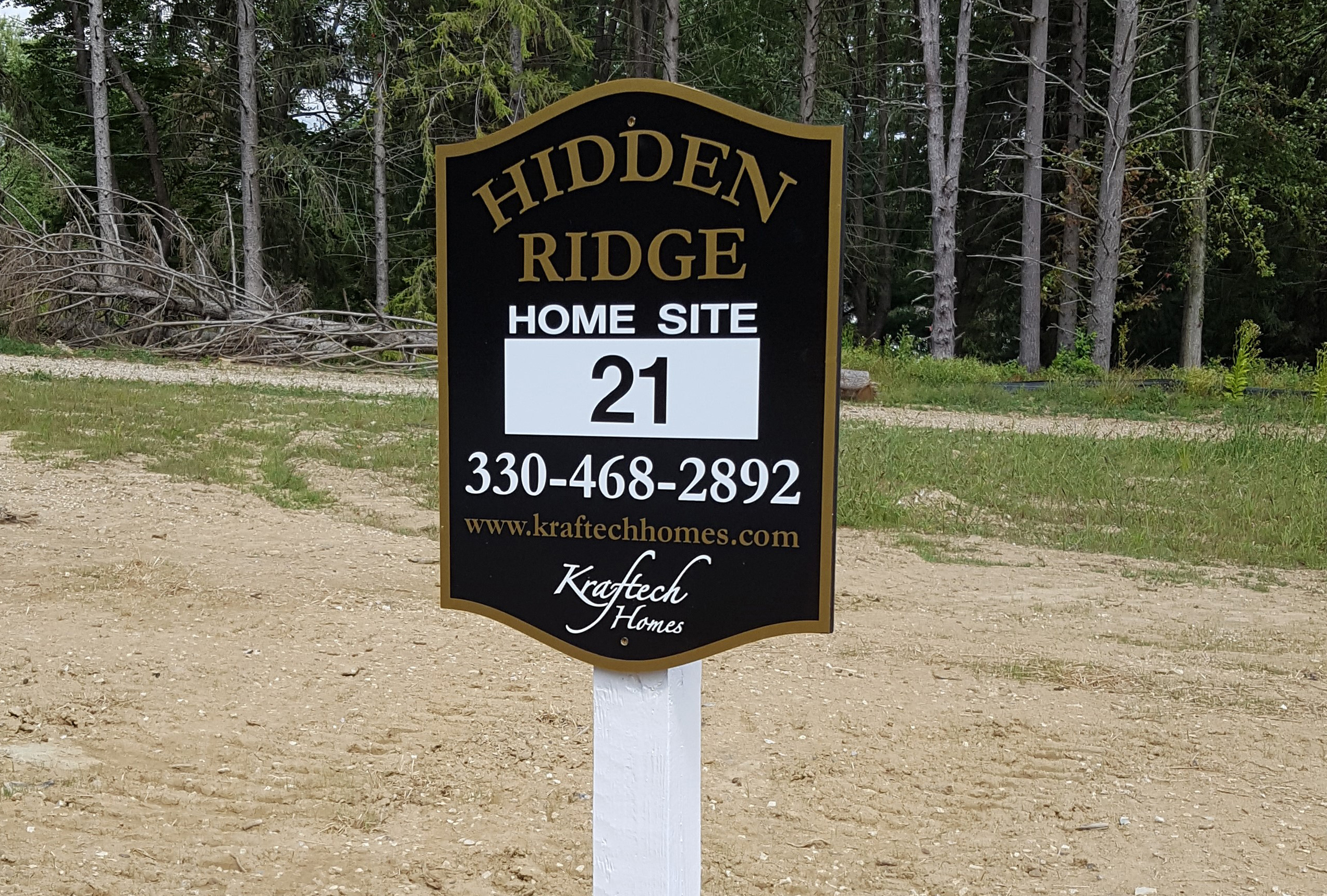 Hidden Ridge lot sign