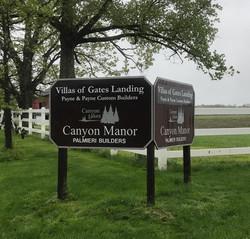 Gates Landing V sign