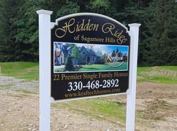 Hidden Ridge sign