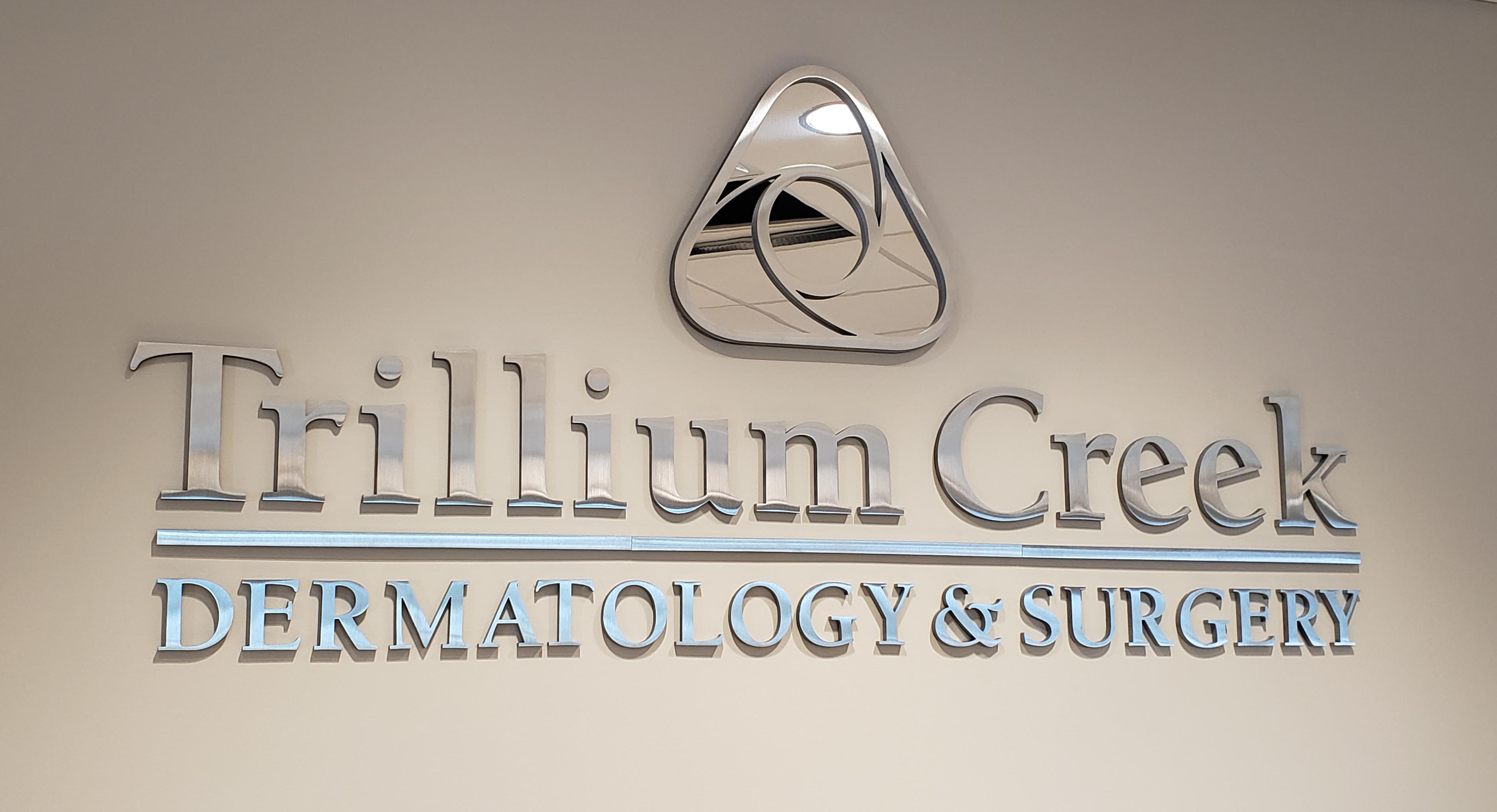 Trillium Creek branding wall