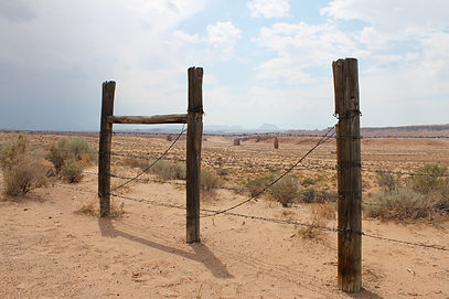 Barriers in the desert