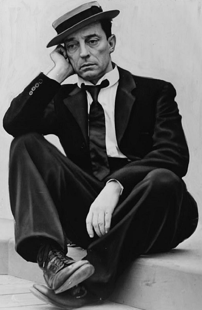 A dejected Buster Keaton.