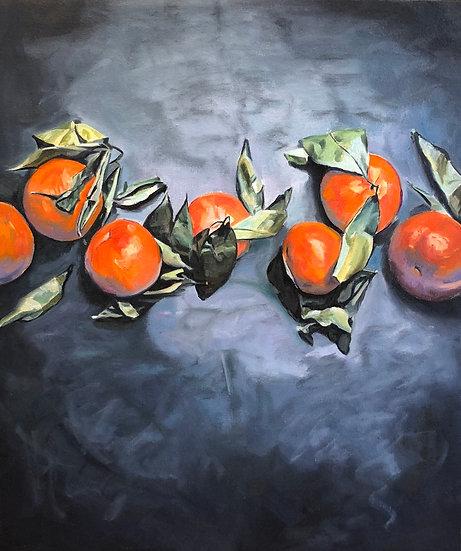A Chorus Line of Orange, by Nancy Plank