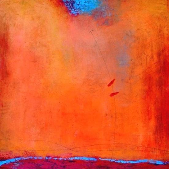 Orange Explosion, by Peggy Hinaekian