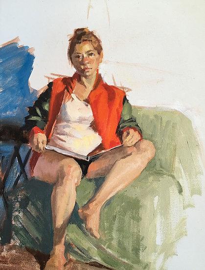 Red Jacket (Michelle), by Barbara Trzcinski