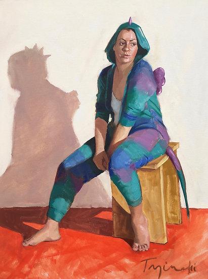Erika, The Teal Dragon, by Barbara Trzcinski