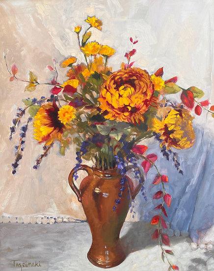 Chrysanthemums, by Barbara Trzcinski