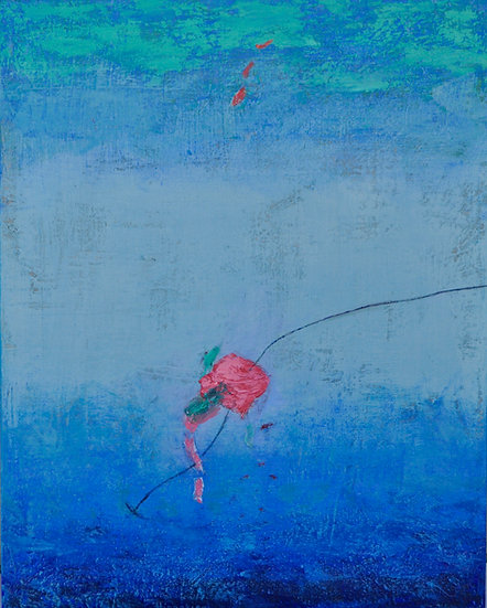 Floating away in Blue, by Peggy Hinaekian