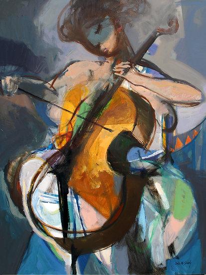 Colored Music with Cello, by Qais Al-Sindy