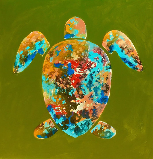 Pacific Green Turtle, by Mark Jesinoski