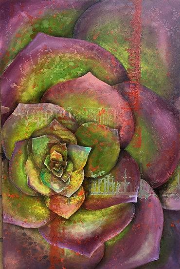 Purple Green, by Ansley Pye