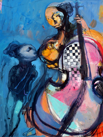 My Daughter, My Rabbit, and My Cello, by Qais Al-Sindy