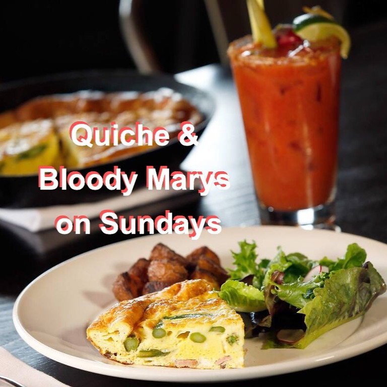 Quiche & Bloody Marys on Saturday & Sunday @ Freedom Run Winery