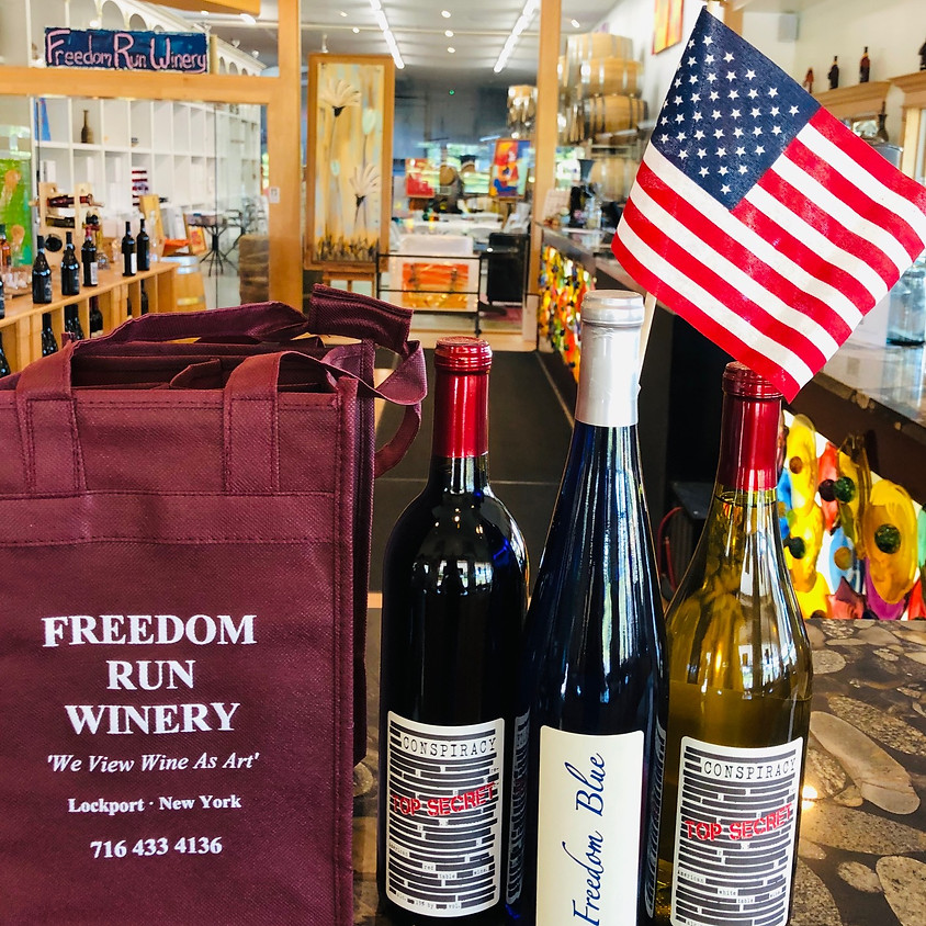 Red, White & Blue Celebration Special @ Freedom Run Winery