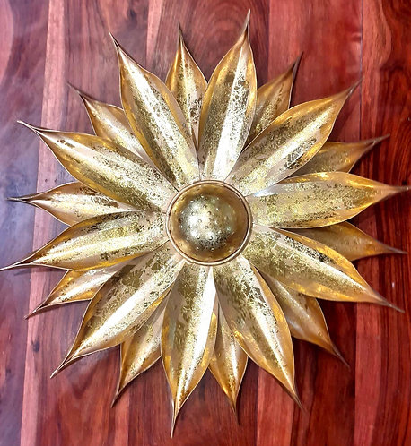 Golden Leaf Effect Sunflower Wall Decoration