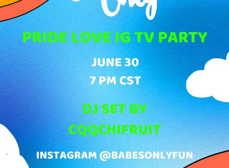 PRIDE LOVE DJ Set with CQQCHIFRUIT