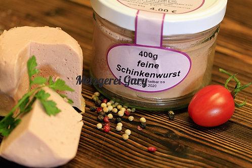 Glas Schinkenwurst fein