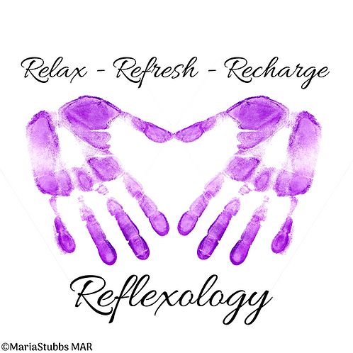 Relax Refresh Recharge Reflexology Greeting Card/Postcard (Blank)