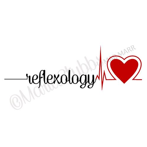 Reflexology Heartbeat Greeting Card/Postcard/Gift Voucher/Poster